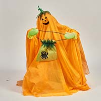 "30"" Animated Standing Pumpkin Ghost"