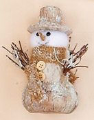 "5"" Snowman With Twigs"