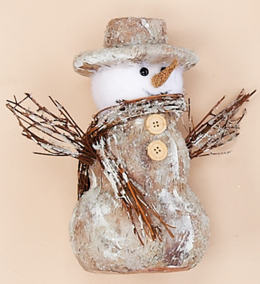"""8.5"""" Snowman With Twigs"""