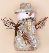 "8.5"" Snowman With Twigs"