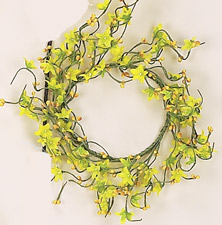 "4"" Forsythia Candle Ring"