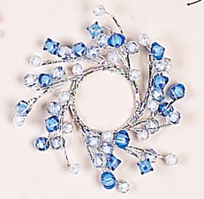 """1.75"""" Beaded Candle Ring"""