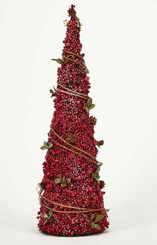 """18"""" Berries Pine Leaves Cone Tree"""
