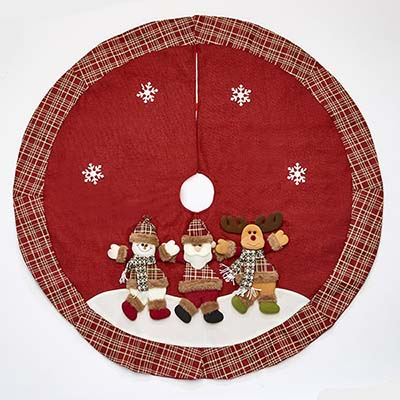 "48"" Christmas Embroidery Tree Skirt"