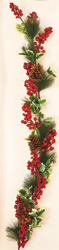 5' Weatherproof Holly Berry Garland