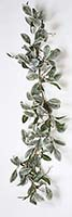 5' MAGNOLIA LEAVES GARLAND W/ WHITE BERRIES