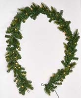 "10"" PINE GARLAND WITH LIGHTS"