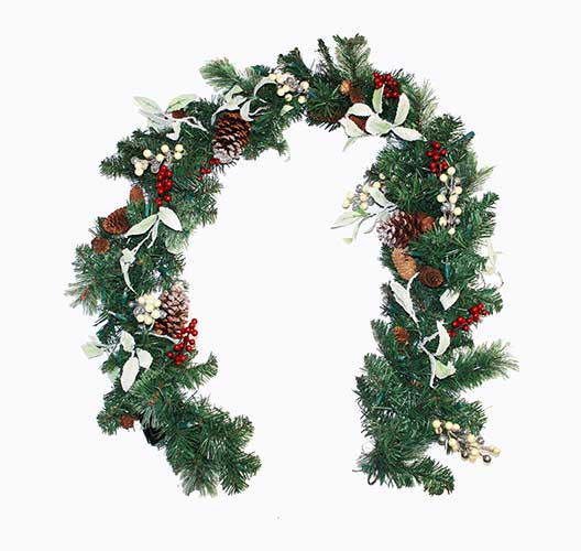 6' LIGHTED DECORATED GARLAND WITH TIMER