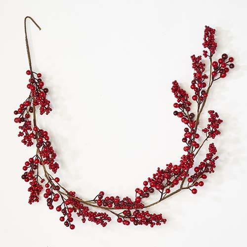 "60"" Red Berries Garland"