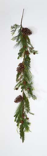 """60"""" Pine Cone And Needle Garland"""