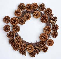 "16"" PINECONE WREATH"