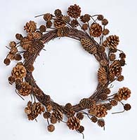 "19"" MIXED PINE CONE WREATH CLOSE OUT"