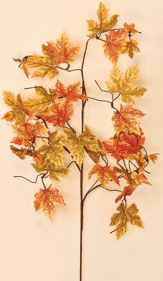 "35"" Fall Maple Leaf Spray -CLOSE OUT"