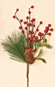 "12"" WP Berry, Pine Cone & Pine Pick"