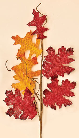 "22"" Burlap Maple Leaf Spray -CLOSE OUT"