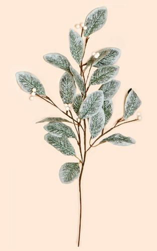 "28"" Magnolia Spray w/ Leaves & White Berries"