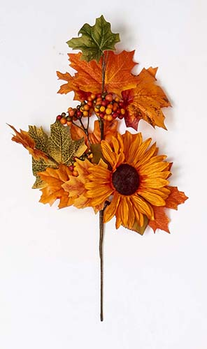 "17"" FALL SPRAY W BERRIES & SUNFLOWER"