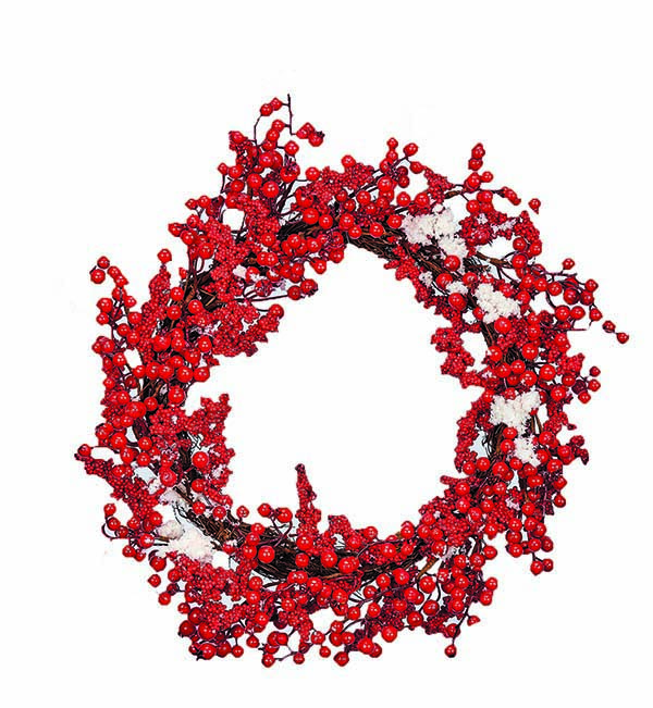 """20"""" SNOWY BERRY WREATH -CLOSE OUT"""