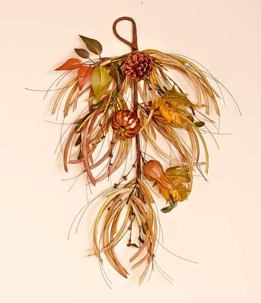"""24"""" Gourd Leaf & Grass Teardrop"""
