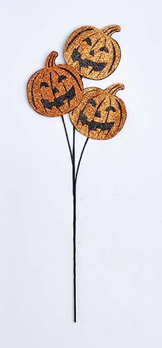 "25"" GLITTER FLAT PUMPKIN SPRAY"