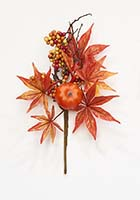 "13"" Maple Leaf Pumpkin Berry Pick"
