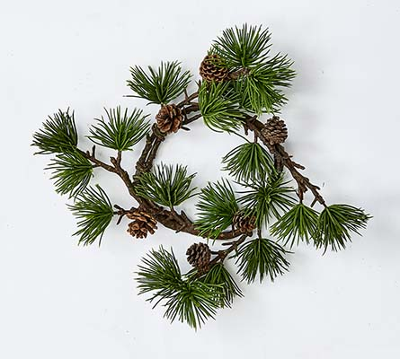 """4.5"""" PINE & CONE CANDLE RING - CLOSEOUT"""