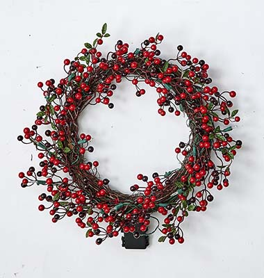 "18"" LIGHTED WREATH WITH TIMER"