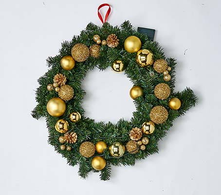 "24"" 20 LIGHT WREATH WITH TIMER"