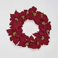 "20"" Poinsettia Wreath on Natural Twig Base"