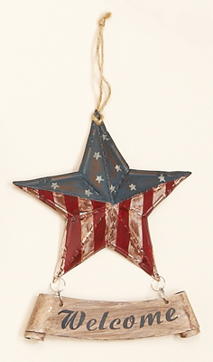 "7"" Tin American Star Welcome"