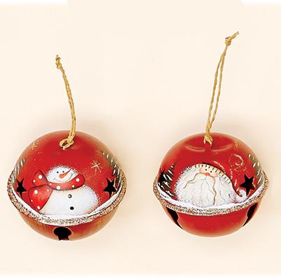 "3"" Metal Christmas Ornament Jingle Bell Assortment"