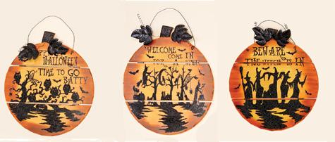 """17"""" Wooden Pumpkin Wall Hanging"""