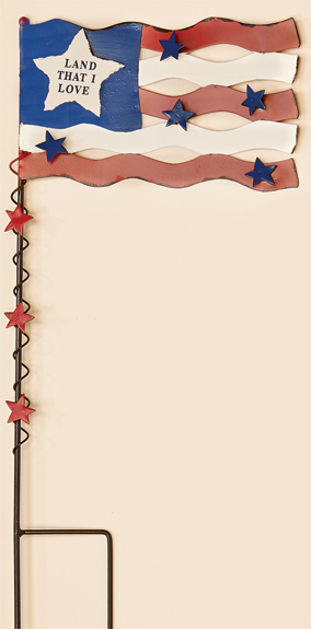 "20"" Metal Americana Flag Stake With Stars"
