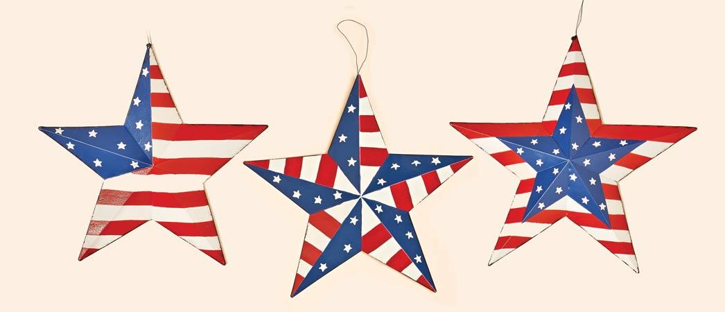 "16"" Tin Americana Star, 3 Asst"