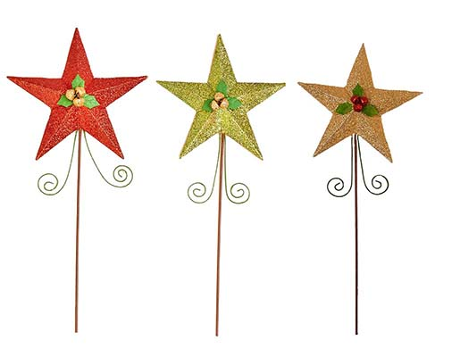 "18.5"" Glitter Metal Star on Stick"
