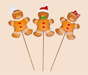 "14"" Metal Christmas Gingerbread Man on Stake"