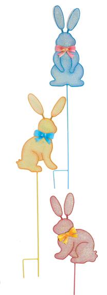 "33"" Mesh Sparkle Bunny Stake"