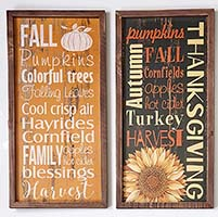 "19.5"" X 10.5"" WOOD AUTUMN SIGN/TRAY"