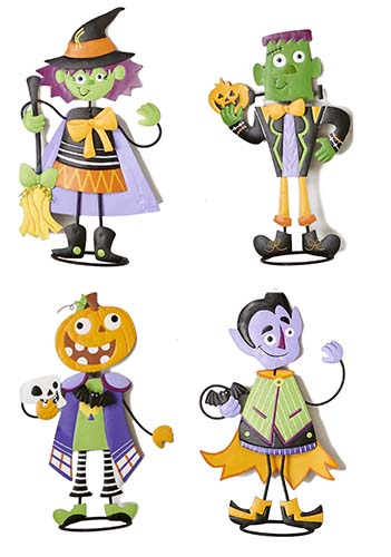 "24"" METAL STANDING HALLOWEEN FIGURES"
