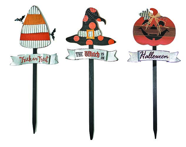 "35"" WOODEN HALLOWEEN STAKE"