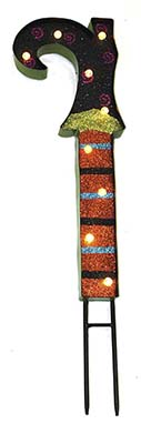 """28"""" METAL WITCH BOOT STAKE WITH 9 LIGHTS -CLOSE OUT"""