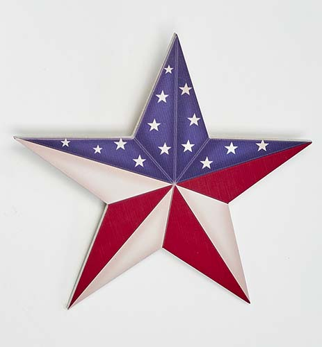 "12"" WOOD AMERICANA STAR"