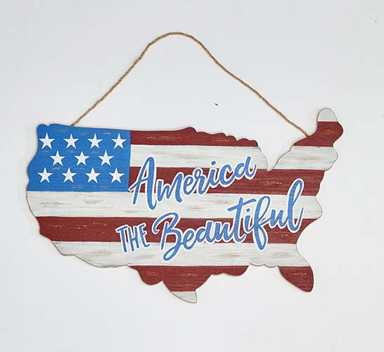 "11"" DISTRESSED USA AMERICANA MAP"