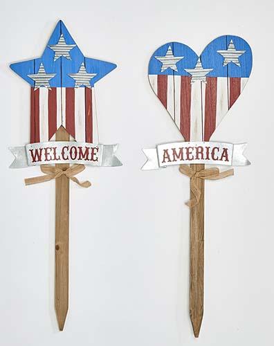 """35"""" AMERICANA HEART & STAR GARDEN STAKES, 2 ASST"""