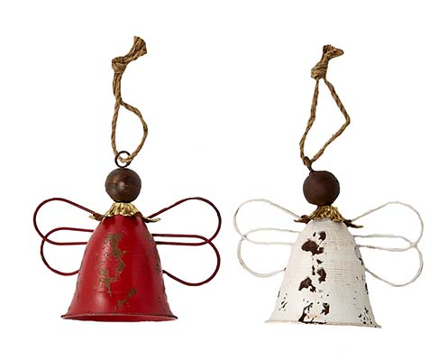 "10"" METAL ANGEL BELLS, 2 ASST"