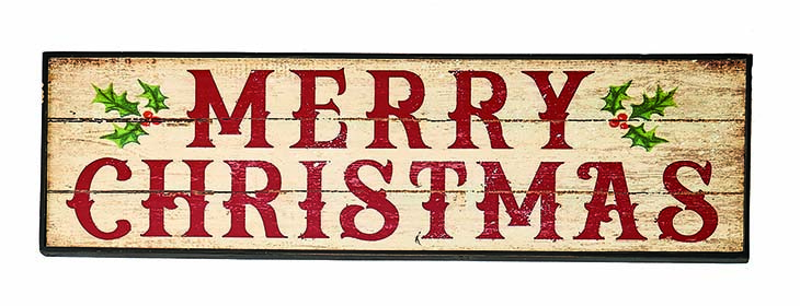 "28"" WOOD MERRY CHRISTMAS SIGN"