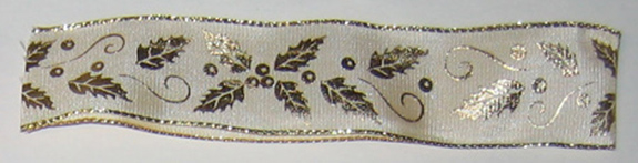 Champagne Holly Leaf with Wire, # 9