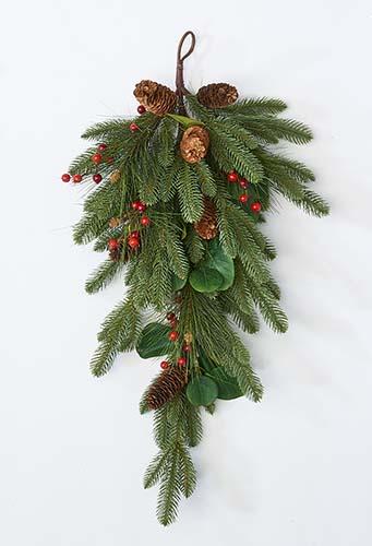 "30"" Spruce Pine Cone Berry Teardrop"